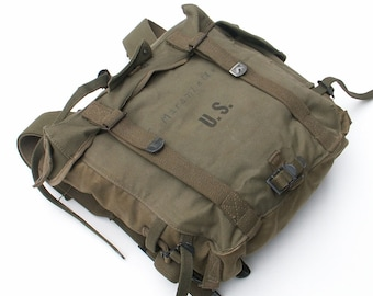 Military Backpack OD Green Canvas Carry All