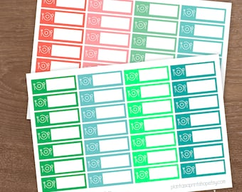 Meal Trackers, Planner Stickers, Planner Labels, What's For Dinner, for use with Erin Condren Lifeplanner, Happy Planner, Menu Planning