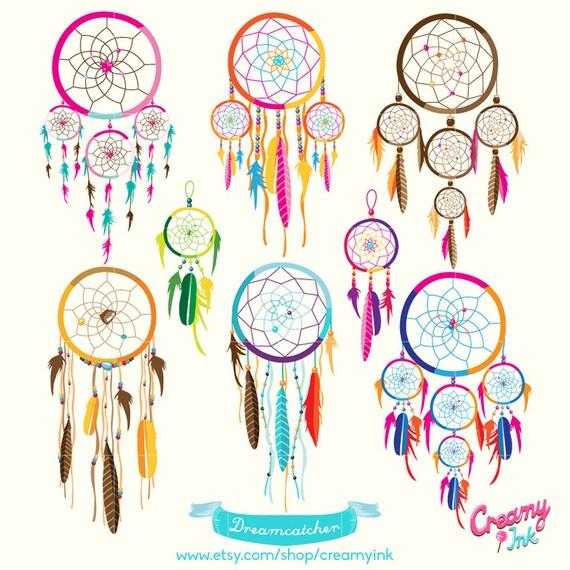dreamcatcher digital vector clip art  tribal boho digital Butterfly Swirl Clip Art Butterflies and Flowers Clip Art