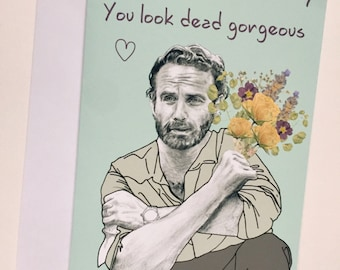 Walking Dead -  Andrew Lincoln/Rick Grimes A5 Valentines Card