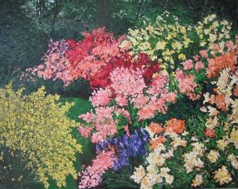 Spring Garden Original Abstract Painting XL