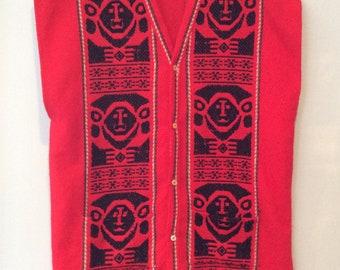 1970s Woven Poncho