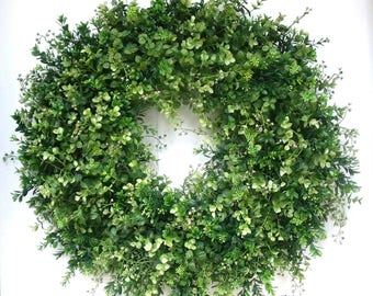 Made to Order, You Pick Size, Greenery Wreath, Boxwood Wreath, Eucalyptus Wreath, Door/Wall Wreath, Farmhouse Wreath, Fixer Upper Wreath