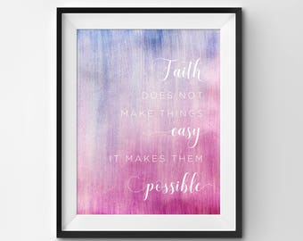 Watercolor Print | Quote Print | Typography Print | Inspirational Quote | Wall Art | Printable Art | Watercolor | Home Decor | Art Print