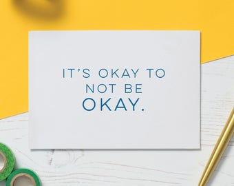 It's Okay Card: Chemo Card, Cancer Card, Illness Gift, Empathy Gift, Friendship Card, Support Card, Cards for Illness, Get Well Soon