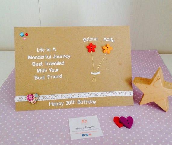 Personalised Best Friend Quote Cards Handmade Best Friend