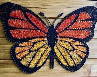 Monarch Butterfly String Art