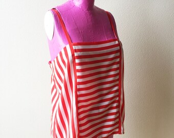 Candy Stripe Jack Mulqueen Silk Tank Top 1980s