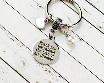 Thank You Keychain, Mother-In-Law Gift, Father-In-Law Gift, Thank You Gift, Mother Of The Groom Gift, Father Of The Groom Gift
