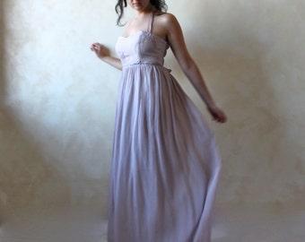 Alternative wedding dress, Lavender wedding dress, boho wedding dress, woodland wedding dress, fairy wedding dress, silk wedding dress