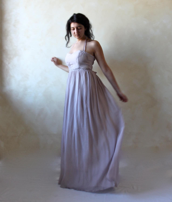 Alternative wedding dress Lavender wedding dress boho