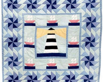 Lighthouse Baby II Quilt Pattern FREE SHIPPING w/ Fabric Purchase