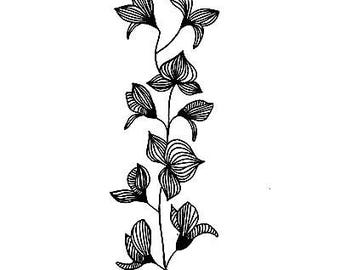 Lavinia Stamps Clear Rubber Stamp - Orchid