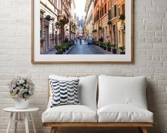 """Architecture Photography, Large Wall Art Print, Italy Photography, Fine Art Print, Rome Art Print, """"En Route Piazza di Spagna"""""""
