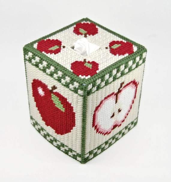 Pattern Country Apples Tissue Box Cover Pattern In Plastic