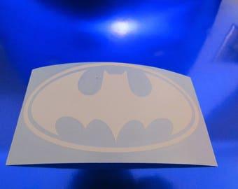"4"" Batman Vinyl Decal Blue & White"