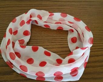 Vintage Pinup Vera Red Polka Dot Head Scarf