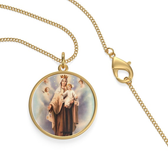 Our Lady Of Mount Carmel Necklace  Catholic Jewelry For Women