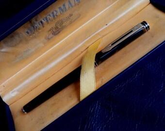 WATERMAN IDEAL FOUNTAIN Pen, 18K Gold Medium Nib Waterman Paris Ideal Fountain Pen, Waterman Paris Ideal Fountain Pen, 18K Gold Medium Nib