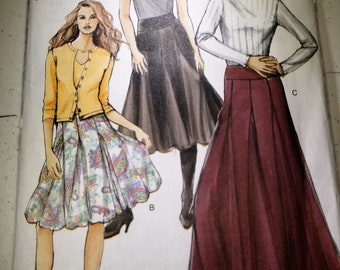 Vogue pattern V8297 Godet flared skirt sizes 6-12