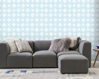 Self-adhesive wallpaper-Provençal-white flowers-yellow BUS