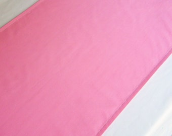 Solid color CARNATION table runner, pink table scarf, dining room decor, table topper, ready to ship