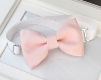 Light pink bow-tie - baby bow tie - boy bow tie - adult bow tie - kids bow tie - Adjustable neck-strap - Blush bow tie - Soft pink bow tie