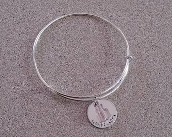 Montessori bracelet, Montessori jewelry, Pink tower cube bracelet, Montessori teacher gift, Montessori parent, Montessorian jewelry