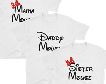 Disney Family Mouse Shirts | Mama Mouse, Daddy Mouse, Sister Mouse, Brother Mouse Shirt | Family Matching Disney Vacation Shirts