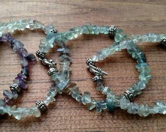 Genuine fluorite bracelets