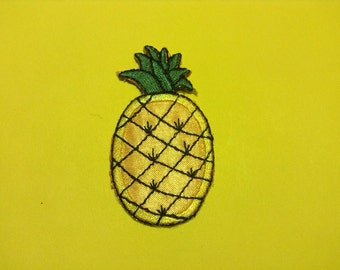 Pineapple Iron on Sew on Patch