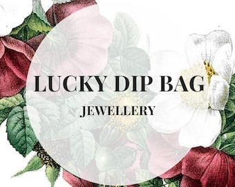 LUCKY DIP BAG Jewellery - earrings rings charm necklaces mystery bag, sale jewellery, special offer lucky bag surprise bag mothers day gift