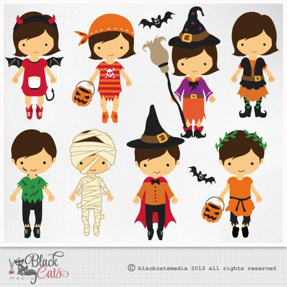 halloween costumes digital clipart halloween clipart costume rh etsy com Halloween Costume Contest Clip Art halloween costume parade clipart