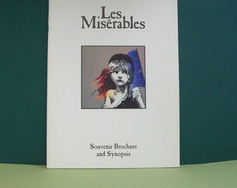 Les Miserables Program/Brochure and Synopsis