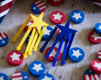 Finished Stars and Stripes Earrings