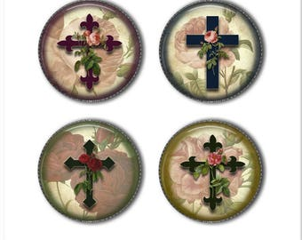 Cross magnets or cross pins, religious magnets, religious pins, refrigerator magnets, fridge magnets