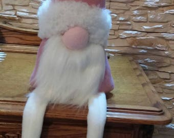 Handmade pink gnome, xmas ornaments, handmade home decor, bymaga, for gifts