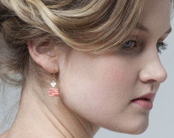 Riverina Earrings - Coral in 3 colours