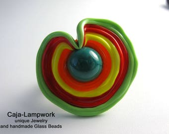 Ring top, change attachment, big change-top, colorful, Lampwork