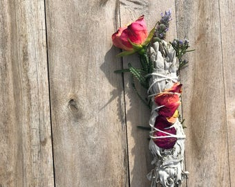 Floral Smudge Stick - MADE TO ORDER
