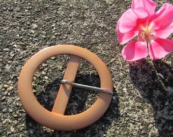 Belt buckle vintage new 67 mm acrylic