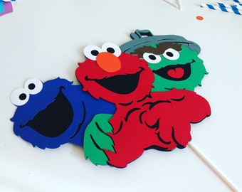 Sesame Steet Centerpiece Stick, Sesame Street, Sesame Street Birthday, Sesame Street Party