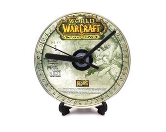 World of Warcraft Burning Crusade Disc 1 PC Upcycled CD Clock Video Game Gift Idea