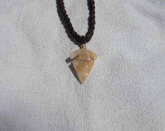 Art Glass Arrowhead Necklace