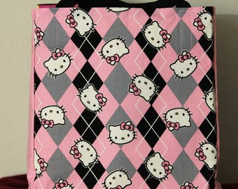 Pink Argyle Hello Kitty Bag