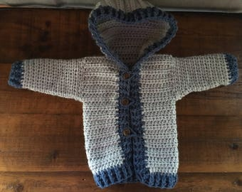 Baby crocheted sweater
