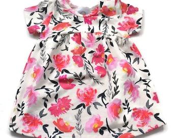 Pink Floral Tunic Dress - Baby Dress - Dress - Toddler Dress
