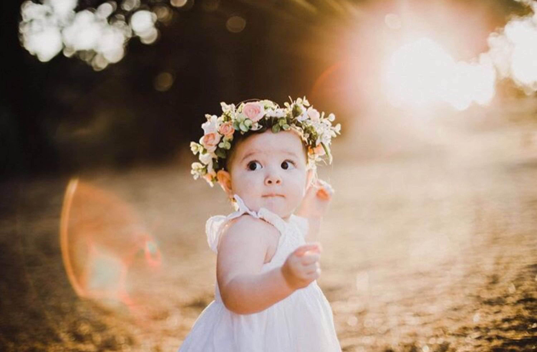 baby flower crown newborn crown newborn headband baby
