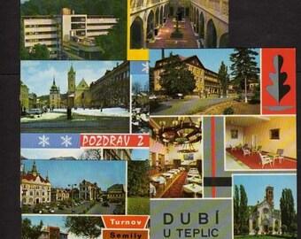 Lot 4 Czechoslovakia Postcards,Czech Postcards, Czechoslovakia, UNUSED Postcards,, Vintage Czech Postcards, Czech, Czechoslovakia Postcards