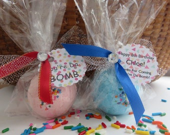 Birthday Party Favors, Bath Bomb Favors, Kids Party Favors, Personalized Favors, Natural Bath Bomb Favors, Shower Gifts, Bath Fizzys